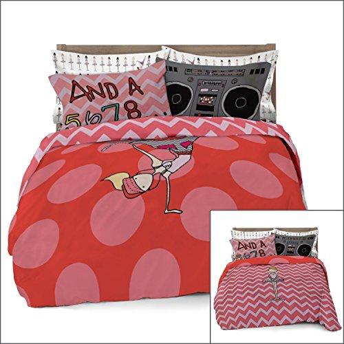 Ballerina/Brake Full/Queen Dancer Duvet Cover for Kids Bedding with 2 Pillowcases by Where The Polka Dots Roam (L 90in x W (Dot Quilt)