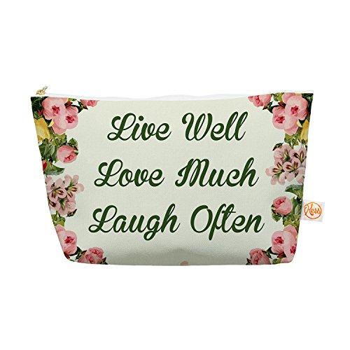 "Kess InHouse ""Live, Love, Laugh"" Everything Bag, 12.5"" x ..."