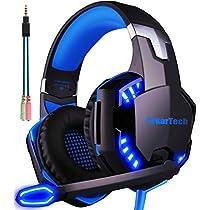 ゲーミングヘッドセット マイク付き ArkarTech G2000 PCゲーム用...