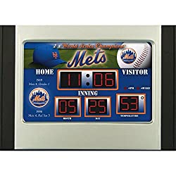 MLB New York Mets Scoreboard Desk Clock