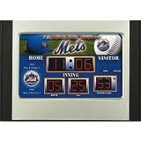 MLB New York Mets Scoreboard Desk Clock