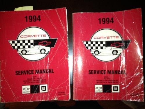 1994 Chevrolet Chevy Corvette Service Shop Manual Set (2 volume set)
