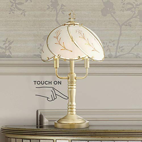 (Flower Petal Traditional Accent Table Lamps 19 1/2