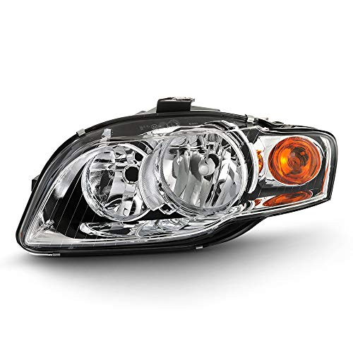 ACANII - For 2006 2007 2008 Audi A4 S4 B7 [Halogen Model] Headlight Headlamp Assembly Replacement Left Driver - Assembly A4 Audi Headlight