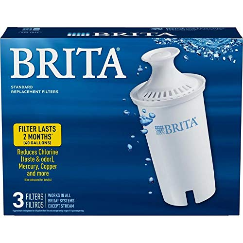 Brita Standard Pitcher Filters 3-Pack for Pitcher Replacement Filter (Brita Ob03 Replacement Filter)