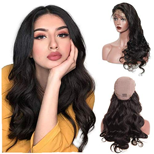 (Brazilian Virgin Hair Body Wave Lace Frontal Wigs Human Hair Pre Plucked Brazilian Virgin Remy Human Hair Lace Front Wigs for Black Women Body Wave Lace Wigs Unprocess Remy Human)