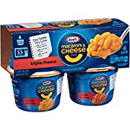 Kraft Macaroni & Cheese Easy Mac Triple Cheese Cups, 4 Count