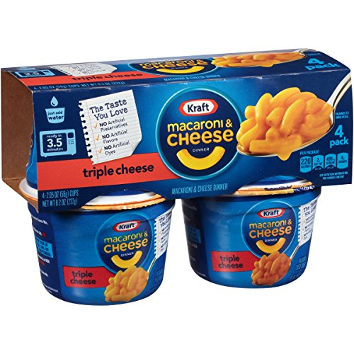Easy Mac Triple Cheese (2.05-Ounce Each), 4-Count Cups (Pack of 6)