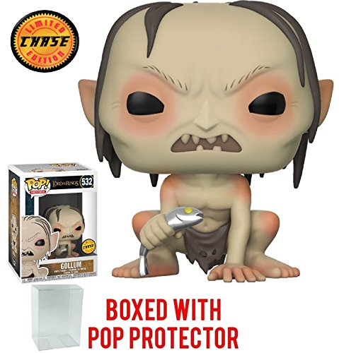 he Lord of the Rings - Gollum with Fish CHASE Variant Limited Edition Vinyl Figure (Bundled with Pop Box Protector Case) ()