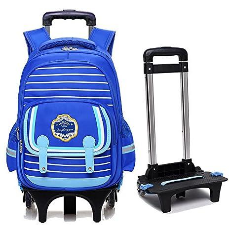 Nuevo MinegRong desmontable Mochila para niños de alta calidad con dos ruedas niños mochilas trolley mochilas escolares para estudiante adolescente Chicas ...