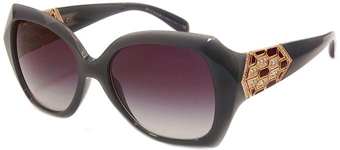 Bulgari 0Bv8182B 11198G 55 Gafas de sol, Gris (Grey), Mujer ...