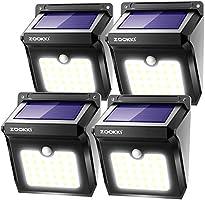 ZOOKKI Solar Lights Outdoor, 28 LED Wireless Motion Sensor Lights, IP65 Waterproof Wall Light Easy-to-Install Security...