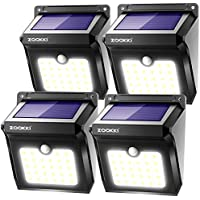 Solar Motion Sensor Lights Outdoor, ZOOKKI 28 LEDs...