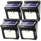 ZOOKKI Solar Lights Outdoor, 28 LED Wireless Motion Sensor Lights, IP65 Waterproof Wall Light Easy-to-Install Security...