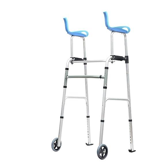 Andador rodante médico de 2 Ruedas con Placa de baño Andador móvil ...