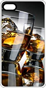 Two Whiskey Shot Glasses Clear Rubber Case for Apple iPhone 4 or iPhone 4s