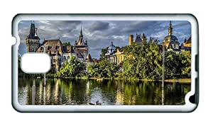 Sale Samsung N9000 luxury cases Budapest castle trees nature park lake boat people TPU White for Samsung Note 3/Samsung N9000