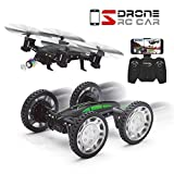 QQPOW FPV RC Drone with 3D Flip with HD Camera Live Video, Remote Control Car for Kids Adults, 2 in 1 WiFi Quadcopter Toy 360° Flip Headless Mode (650mAh Batteries)
