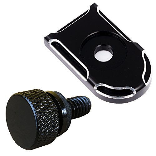 Black Billet Aluminum Knurled Seat Bolt Cover for Harley Sportster Dyna Touring 1996-2016 Harley Davidson Aftermarket Parts