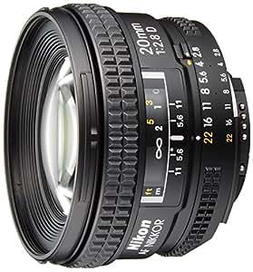 Nikon AF NIKKOR 20mm f/2.8D - Objetivo para cuatro tercios (distancia focal fija 20mm, apertura f/2.8, diámetro: 62mm) color negro