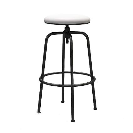 Miraculous Amazon Com Nyjs Bar Stool Bar Chair Wood Assembled Round Cjindustries Chair Design For Home Cjindustriesco