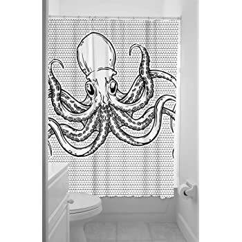 Amazon Com Thomaspaul Octopus Shower Curtain Charcoal