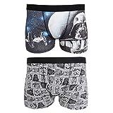 Star Wars Mens Trunks (Pack of 2) (L) (Black/Grey)
