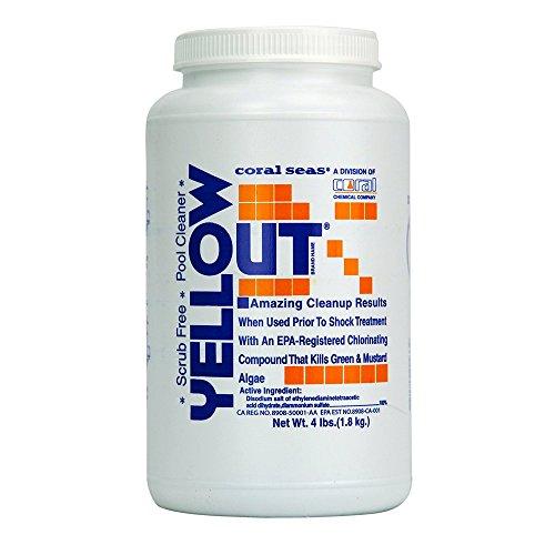(Coral Seas YO-4# Yellow Out Swimming Pool Chlorine Shock Enhancing Treatment, 4 lb)