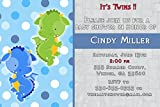 30 Invitations Dragon Twin Boys Birthday Party Baby Shower Personalized Cards 2 + 30 White Envelopes