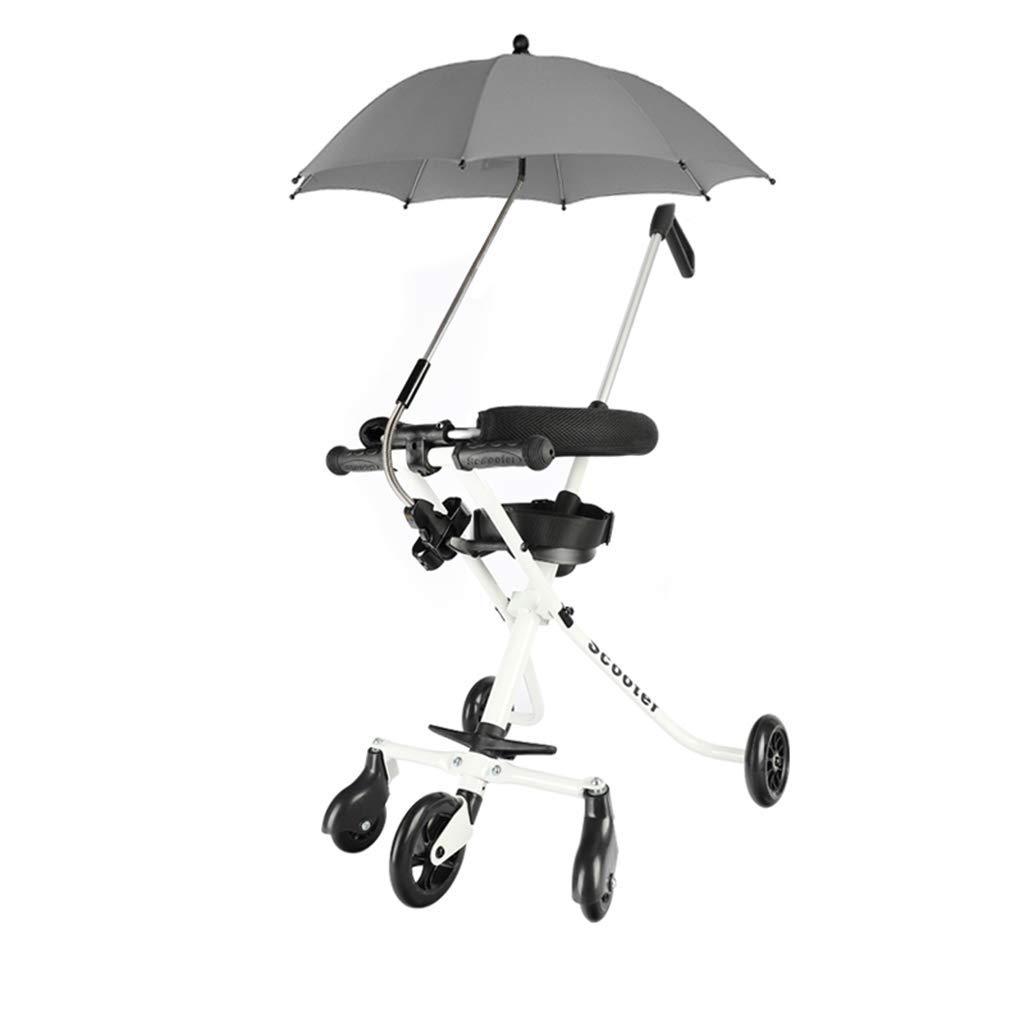 Arbre Kleinkind Baby-Kinderwagen mit Dreirad aus Aluminiumlegierung Einfache Leichte Falten Wei/ß- * Farbe : A Farbe: B Wagen