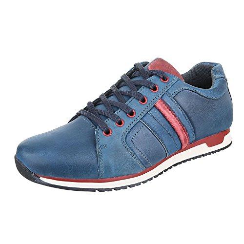 Ital-Design - Zapatillas de casa Hombre Azul