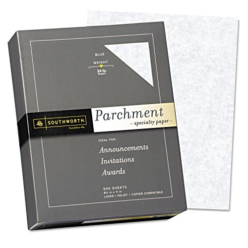 Southworth 964C Parchment Specialty Paper Blue 24 lb. 8 1/2 x 11 ()