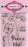 Party Wish Scrapbooking Stamps for Card Making by The Stamps of Life - Wish2Make