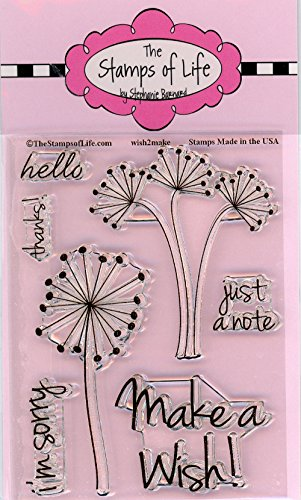 Party Wish Stamps for Card-Making and Scrapbooking Supplies by The Stamps of Life - - Dandelion Die