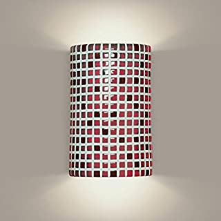 product image for A19 Confetti Wall Sconce, 4-Inch by 6-Inch by 9.5-Inch, Matador Red