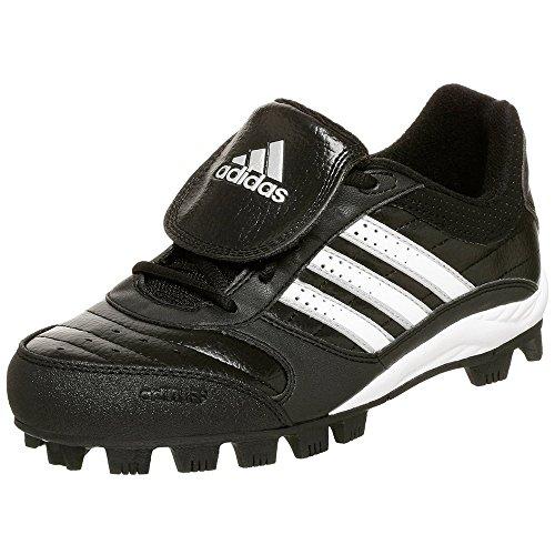 adidas Little Kid/Big Kid Triple Star 6 Low Baseball Cleat,Black/White/Silver,5 M US Big Kid