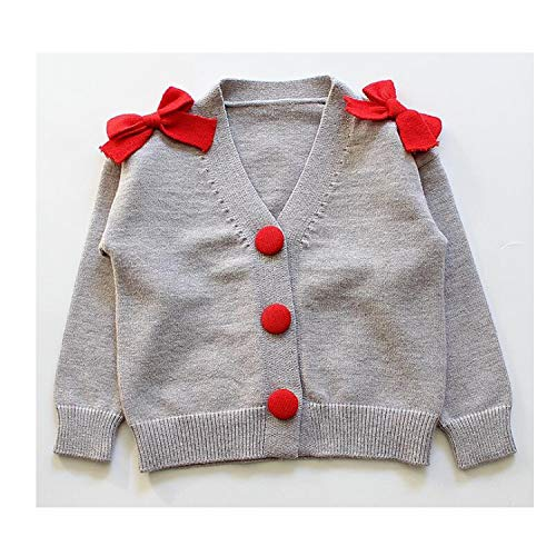 0a7ae6cc8375 Long Sleeves Girls Sweater Kids Cardigan Children s Clothes Baby Toddler Bow  Knit Sweaters Girl Coats Jackets