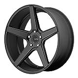 2003 infiniti g35 center cap - KMC Wheels KM685 District Satin Black Wheel (20x8.5/5x114.3mm, 35mm offset)