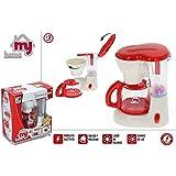 Hogar y Mas Cafetera Electrico de Juguete para Niños de Color Rojo, con Sonidos y