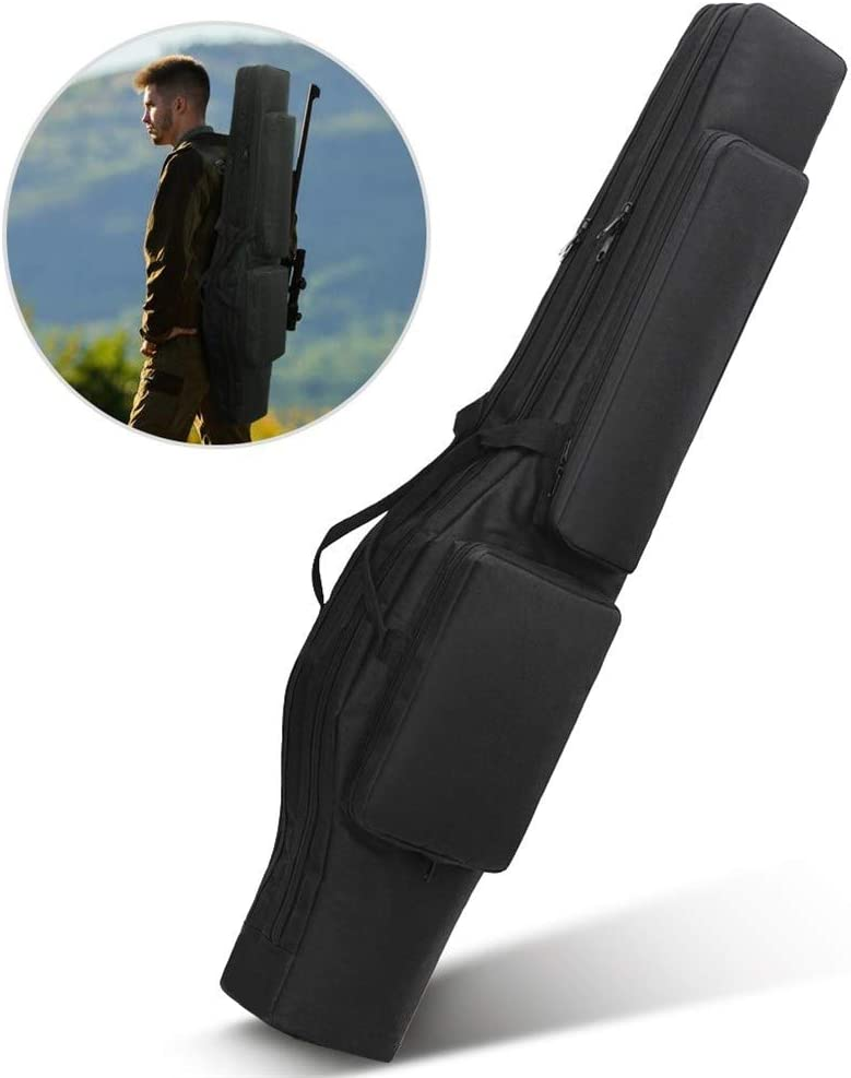 Vioaplem Táctica 120cm Doble Suave Caja del Rifle del Bolso del Arma del Arma Mochila Bolsa De Transporte Bolsa De Airsoft Pistola Escopeta Acolchado Funda Bolso Al Aire Libre Caza Militar