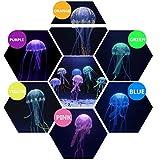 SunKni 6PCS Fake Artificial Silicon Jellyfish for Aquarium Décor Fish Tank Ornament Fish Bowl Decorations with 6 Color Mini Pretty Jelly Fishes