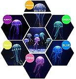 SunKni 6PCS Fake Artificial Silicon Jellyfish for Aquarium Décor Fish Tank Ornament Fish Bowl Decorations with 6 Color Mini Pretty Jelly Fishes (Multi)