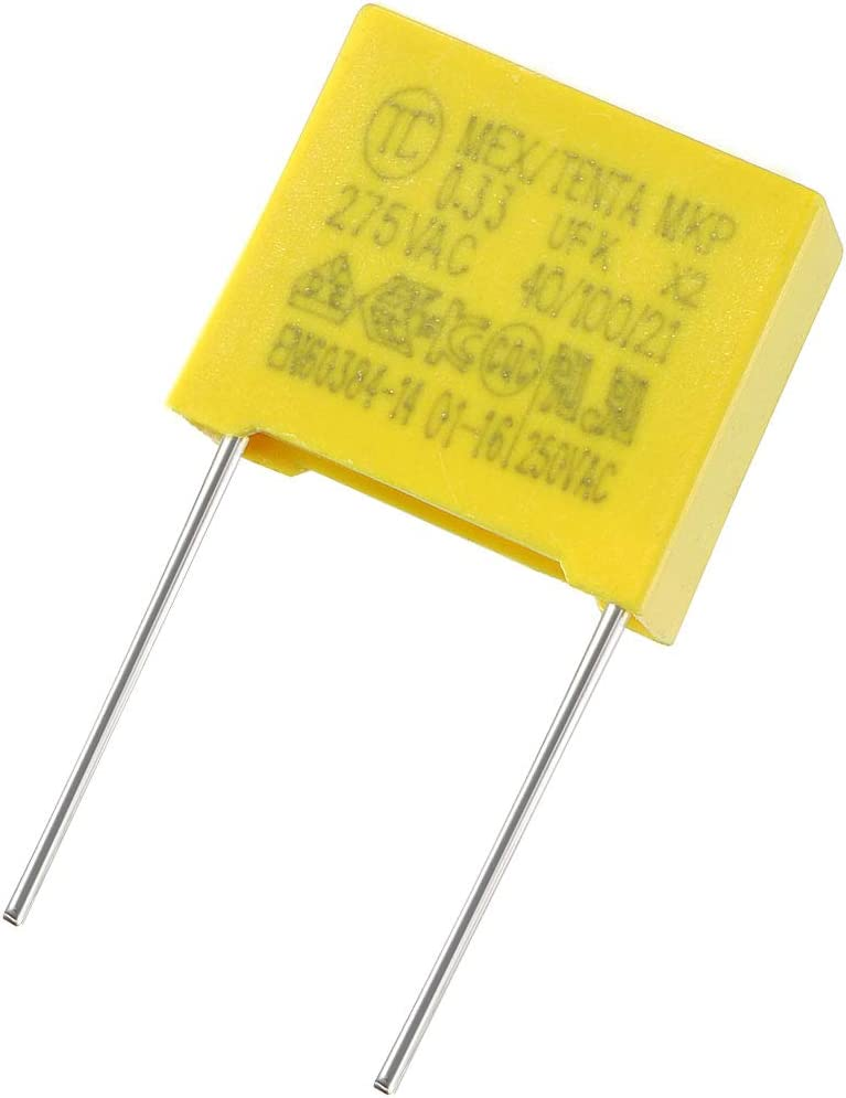 sourcing map Safety Capacitor Polypropylene Film 0.022uF 275VAC X2 MKP