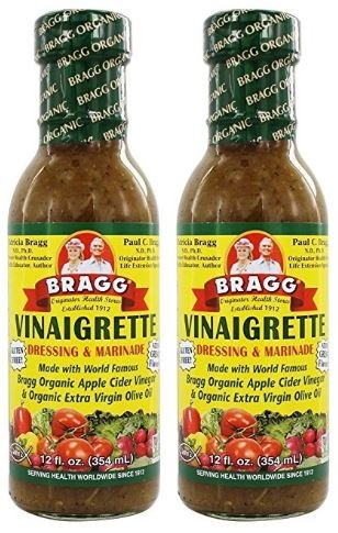 Bragg Dressing & Marinade Vinaigrette Organic 12 oz (Pack of 2) (Olive Oil And Apple Cider Vinegar Salad Dressing)