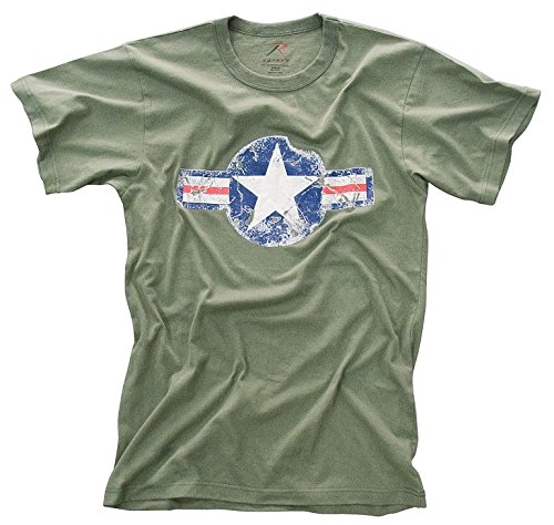 Vintage Air Corp Od T-shirt (Olive Drab Large)