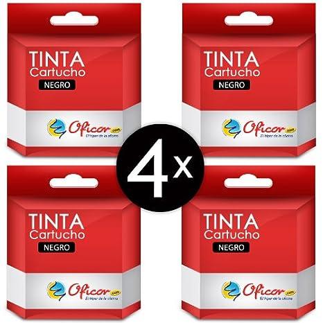 Pack de 4 cartuchos de tinta negros Oficor T1291 genéricos ...