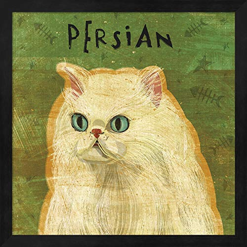 (Persian by John W. Golden Fine Art Print with Wood Box Frame and Glass Cover, 15 x 15 inches)