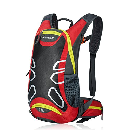 Backpacks, Snniku 15L Hiking Backpack Outdoor Lightweight Cycling Hydration Backpack Hiking Daypack Sport Helmet Bag Red (Executive Cabin Trolley Bag)
