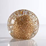 Torre & Tagus 902295A 4'' Glitter Glass Ball Paperweight Decor, Clear