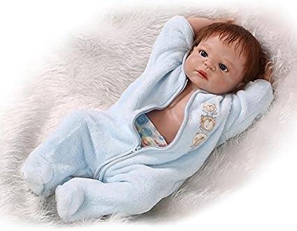 """23/"""" Reborn Baby Boy Doll Realistic Handmade Silicone Lifelike Newborn Toy Boy"""